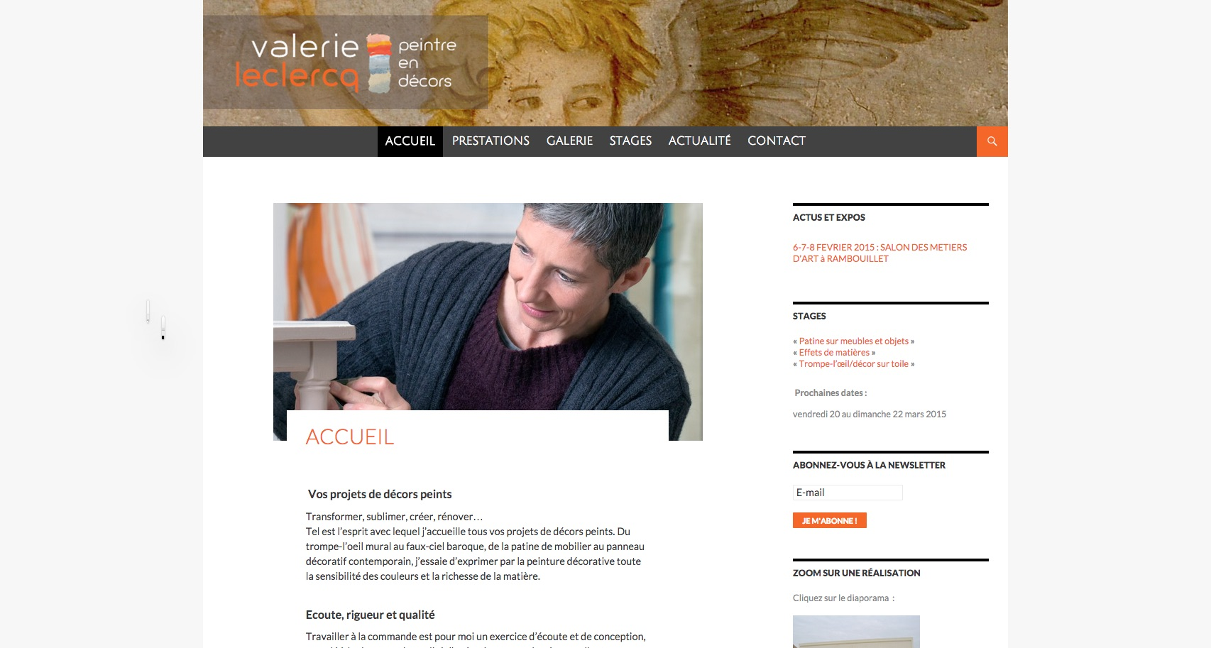 Aperçu du site valérieleclercq.fr